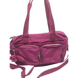 Kipling Pink Nylon Medium Crossbody Bag